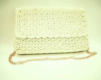 Cream vintage style bag