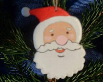 Décoration de Noël à suspendre Tête Père Noël