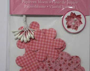 paper flowers decorated embellishment for scrapbooking, invitations