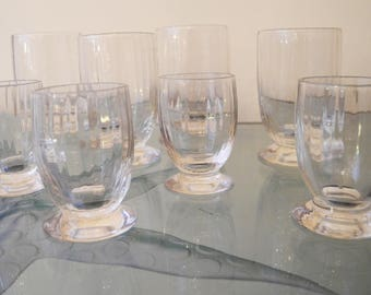 Set of 20 wavy glass goblets
