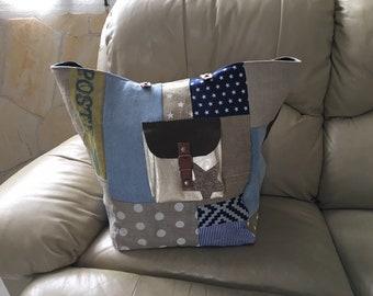 Pomponette style patchwork bag