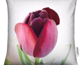 Black Tulip Cushion Cover 45 x 45 cm