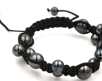 Hematite Beads Bracelet black