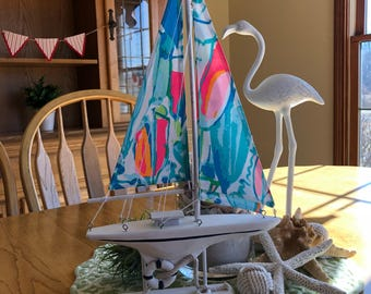 Lilly Pulitzer Beach and Bae Sailboat