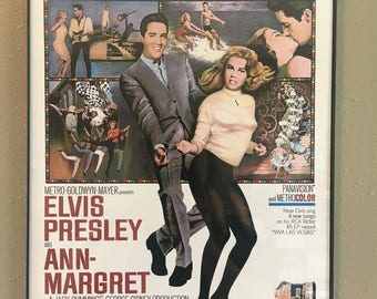 Framed Elvis Reproduction Movie poster Viva Las Vegas