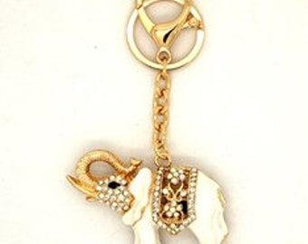 diamante elephant bag char/keyring