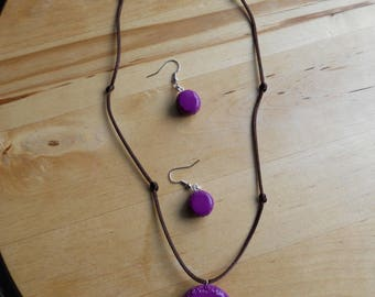macaroon earrings with necklace