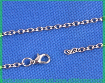 54 cm silver plated lobster clasp chain