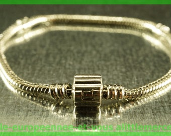 N52 clasp 18cm for European charms Pearl silver bracelet