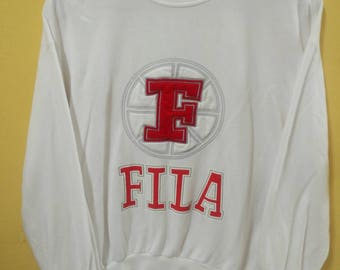 Vintage Fila Big Logo Embroidery Sweatshirt Spell Out / Hip Hop / Pop Art / Street Wear /