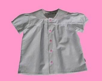 Tender pink and white Poplin Shirt.
