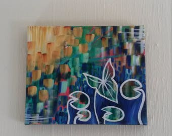 Lilly Pad, Acrylic Painting on Canvas
