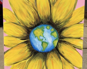 You are my sunshine, flower and world