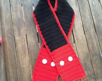 Scarf size child's Mickey Mouse