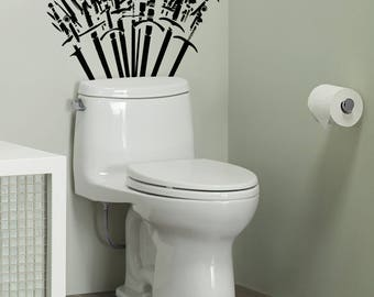 Throne of Spades - Toilet Decor wall Decal Set - The WC has never been so exciting, Toilets, Fun, Funny, Game of Thrones, Sticker, Rest Room