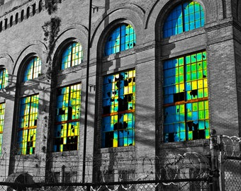 "Abandoned Factory - Photo Art Print - ""FLUORESCENT FACTORY"""