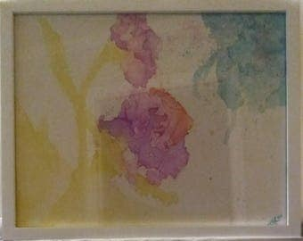 """11x14 White Framed Painting """"Dianthus"""" by Mikell K. Larkin"""