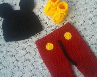 Mickey crochet fabric costume