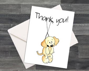 Puppy Dog Thank You Cards & Envelopes