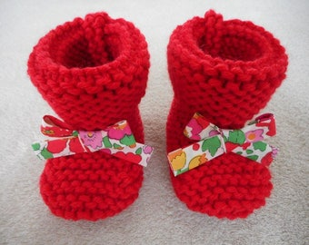Baby bow and red wool liberty betsy grenadine