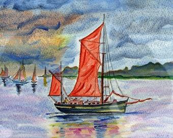 Navy veil Orange: landscape under a threatening sky