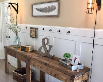 Entry Way Table | TV Console | Rustic Table | Farmhouse Table | Foyer Table  |
