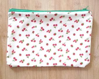 Kit patterned cherries, strawberries and raspberries