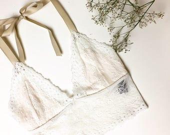 Vanilla lace bralet
