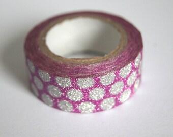 Rouleau de 3M Masking Tape Paillettes Glitter - Coloris au choix