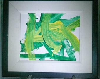 Green and Yellow Orangutan Painting