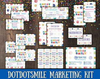 SALE! DotDotSmile Marketing Kit, 15 items! Smile Business cards; DDS kit; DotDotSmile; DotDotSmile Marketing; DotDotSmile  bundle