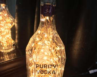 Purity Vodka Bottle Lamp