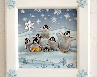 """Table child's room """"Penguin family"""""""