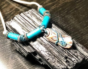 Abalone Shell Pendant & Necklace