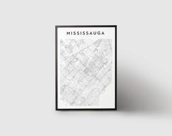 Mississauga Map Print