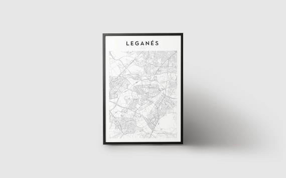 Leganés Map Print - Leganés map