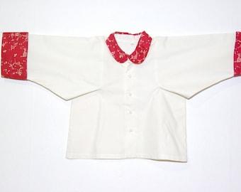 Baltic cotton white tunic