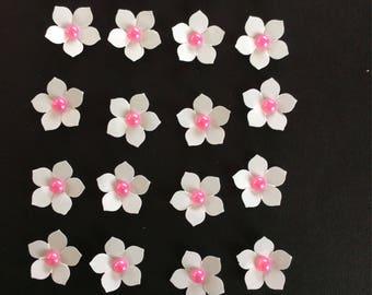 24 die cut floral embellishments