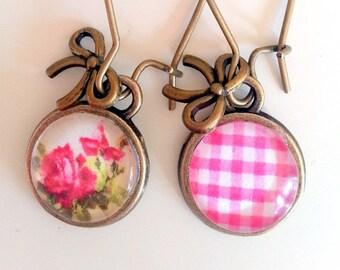 Big earrings roses