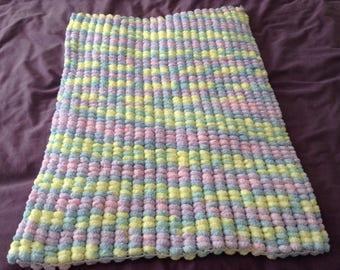Sirdar Pom Pom Baby Blanket