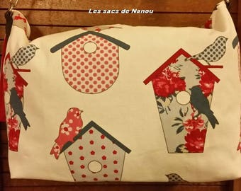 Bird House pattern shoulder bag