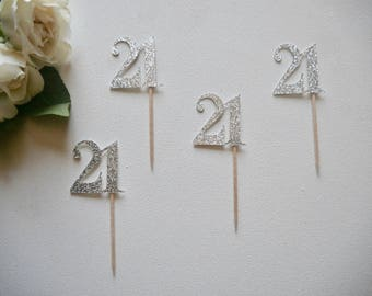 21 Cupcake Toppers