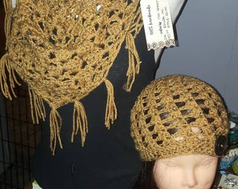 The Susan mini shawl and hat set