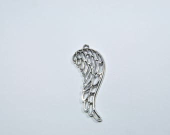 BR54 - 1 large angel wing charm in silver
