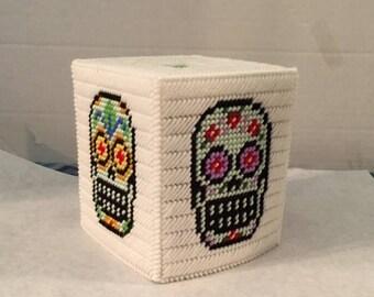 Plasic canvas tissue box