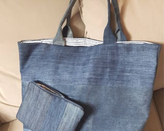 Denim bag and its case