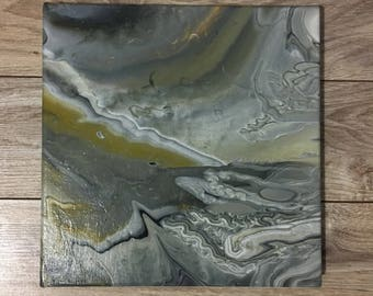 "10""x10"" acrylic painting with varnish"