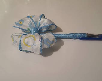 Custom Pens/altered pens/Baby Blue in color/It's a boy/baby boy/special occasions/Signing pen/Guest Book pen