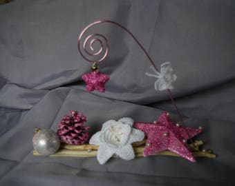 Pink and White Christmas centerpiece