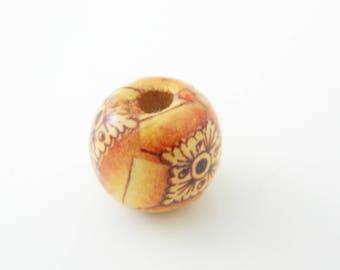 1 x round wood Brown 11mm (l223)